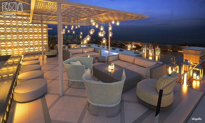 Celos as cer micas retroiluminadas en el vi cool de sergi for Celosia terraza