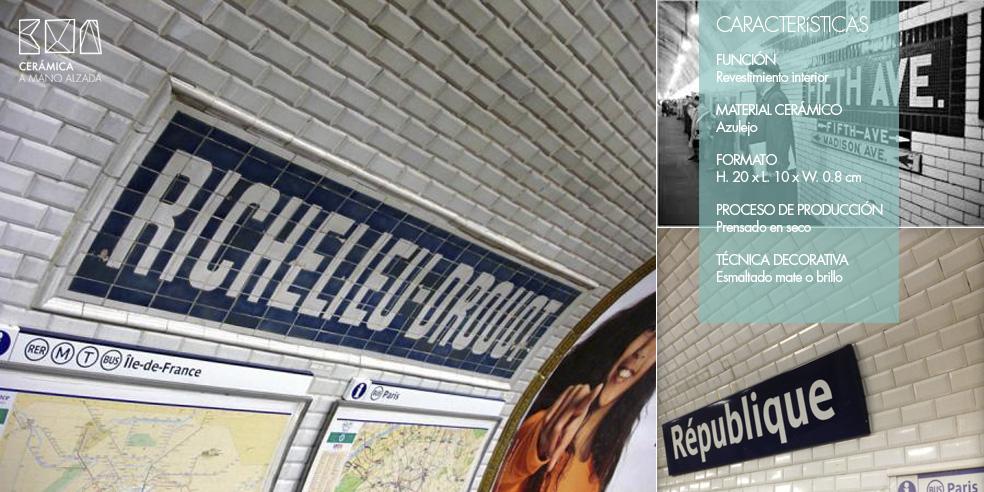 Azulejo tipo metro. Un clásico que sigue enamorando.