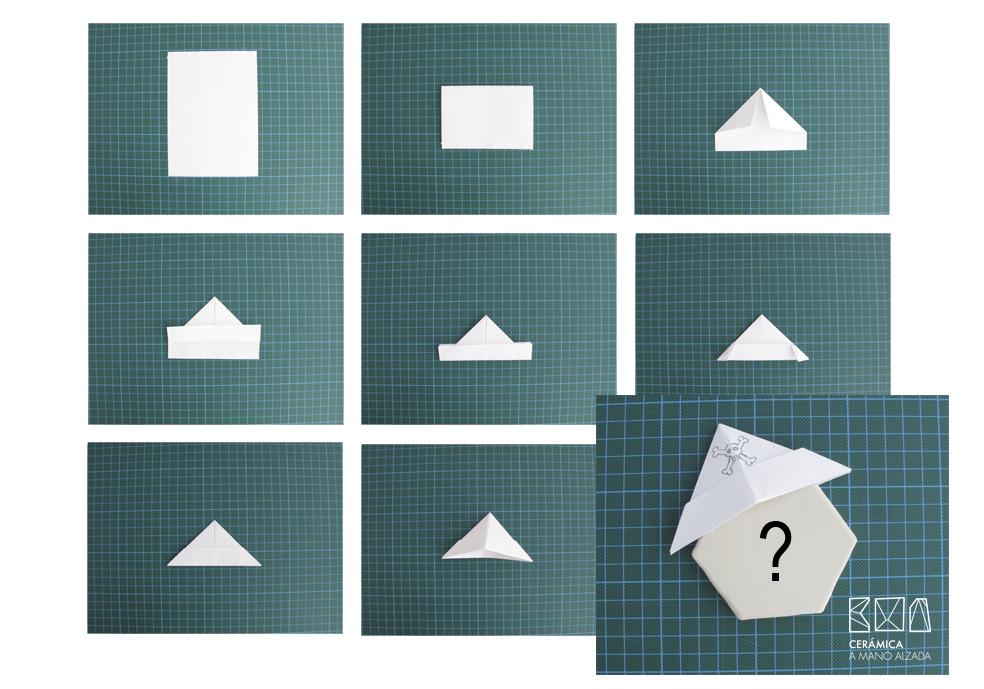 proyectos-con-ceramica-unicos-Gorro-de-papel-ceramica-a-mano-alzada