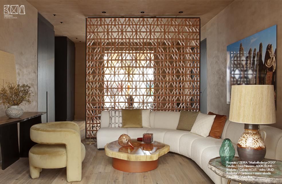 celosía cerámica ACUS Marbella Design diseño Erico Navazo addictions design ceramica a mano alzada