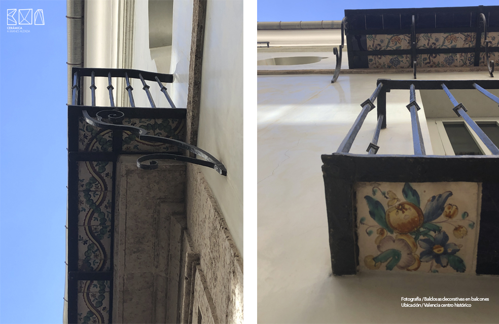 Baldosa cartabon - ceramicas decorativas en balcones centro de valencia _ ceramica a mano alzada