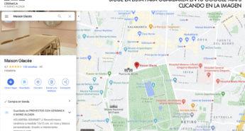 ubicación Maison Glacee madrid len la lista de proyectos de arquitectura con ceramica a mano alzada en google maps